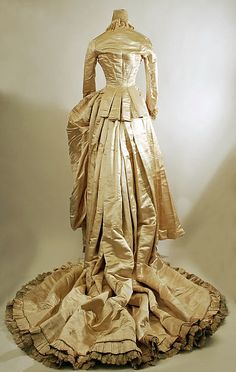 Wedding dress Date: 1884 Culture: American Medium: silk, cotton