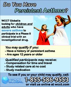 Asthma Clinical Trial - Study to Compare the Efficacy ...