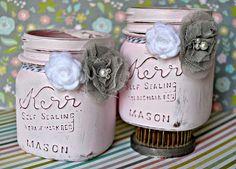 all things cRAEtive: Pretty in Pink Mason jars