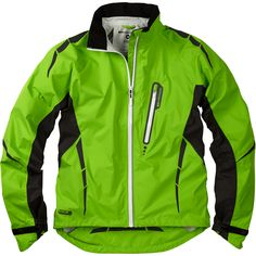 Stellar men's waterproof jacket, green flash large