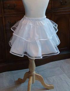 38eec3f31d2d5 Girls Petticoat Crinoline Slip Skirt Ankle Length or Custom Length in  White, Off-White Ivory. Toddle