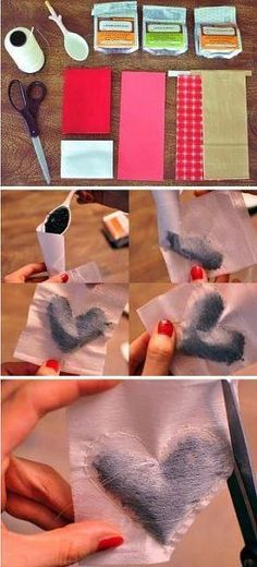 Heart shaped tea packets... super cute for a gift. #DIY *This can also be used to make drawer sachet that smell good