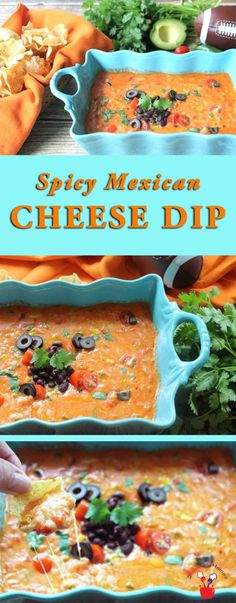 Spicy Mexican Cheese Dip | 2 Cookin Mamas An easy cheesy Mexican Cheese Dip that…