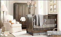 traditional inspired baby nursery. Love when nurseries look like adult rooms