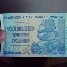 $100,000,000,000  Zimbabwe dollars or US $27