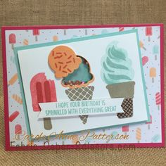 The Cool Treats Stamp Set & Framelits are staying for 17-18 BUT get it now at 10% off. Shop at Fabric-Paper-Scissors.com