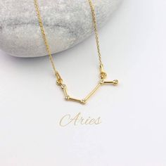 Aries Necklace   Star Sign Necklace   Zodiac Sign Necklace   Astrology Necklace   Constellation Necklace   Horoscope Necklace Zodiac Sign Necklace, Zodiac Jewelry, Gold Plated Necklace, Sterling Silver Necklaces, Gold Necklace, Origami Necklace, Constellation Necklace, Aries Zodiac, Bird Jewelry