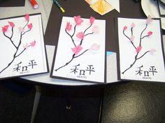 Cherry blossom art spring idea