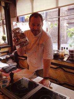 Neil Forbes during the Slow Food Edinburgh materclass Professional Kitchen, Slow Food, Edinburgh, Chefs, Allrecipes, Eat
