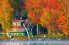 Vermont Fall Colors | ... Photos > Vermont, Foliage-Fall Colors > Vermont, Lake Elmore, Fall