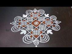 Rangoli Borders, Rangoli Border Designs, Kolam Rangoli, Kolam Designs, Simple Rangoli Designs Images, Rangoli Designs With Dots, Beautiful Rangoli Designs, Rangoli Colours, Decoration For Ganpati