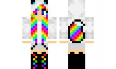 minecraft skin rainbow-wolf-girl Find it with our new Android Minecraft Skins…