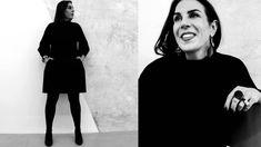 Designer Rana Salam at her Beirut Studio shot by Aly Saab. Studio Shoot, Beirut, High Neck Dress, Portraits, Dresses, Design, Fashion, Turtleneck Dress, Vestidos