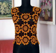c7ca362562d7ec 137 Best Crochet Orange    and Yellow Tops images