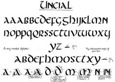 Calligraphy website: UNCIAL - the formal book hand from the 5th to the 8th centuries