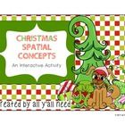 FREEBIE! Students need to learn spatial concepts, and this interactive activity addresses receptive and expressive language skills! Print out a large Christ...