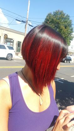Red ombre bob Ombre Bob, Red Ombre, Updo, Dreadlocks, Hair Styles, Beauty, Beleza, Dreads, Hairdos