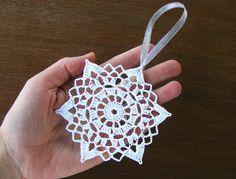 Сhristmas snowflakes crochet snowflakes set of 6 Xmas di NatkaLV