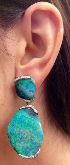 Boulder Opal Earrings from the Mimi So ZoZo Collection ♥✤   KeepSmiling   BeStayClassy