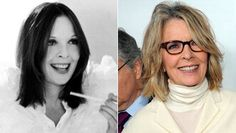"""PHOTO: Diane Keaton wears a white satin outfit with a matching feather boa and carries a cigarette holder in a scene from 'Sleeper,' directed by Woody Allen, 1973. Diane Keaton attends the Los Angeles premiere of Sony Pictures Classics' """"Darling Companion"""