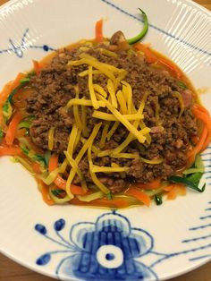 Charlottes Madblog: Kødsauce m/squash og gulerodsspaghetti