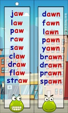aw words & awn words - FREE & Printable - Ideal for Phonics Revision and Phonics Practice.