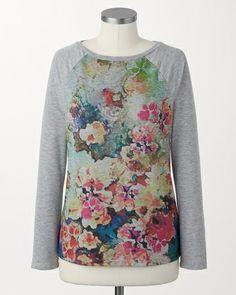 Soft florals pullover - [K24734]