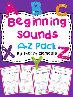 Beginning Sounds A-Z Pack - Great for introducing each letter and sound of the alphabet! Kindergarten and first grade phonics - $