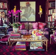 The Library of Alex Papachchristidis's Apartment. New York.