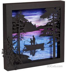 Summer Scenes Shadow Box is a 3D cutting file designed by Marji Roy of 3dcuts.com. It is available as a cutting file in SVG ,PDF, PNG and DXF formats for use on Silhouette, Cricut and other cutting machines.