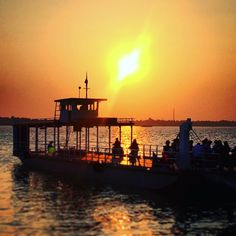 Coucher de soleil sur le Delta du Mekong #Vietnam #voyage