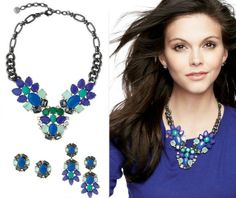 2013 New Fashion Vintage Blue Gem Stone Womens Peacock Choker Statement Necklace Shourouk Crystal Collar Party Brand Wholesale $12,41