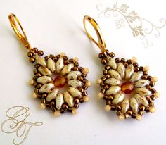 Free pattern for earrings Tea Party - Beads Magic