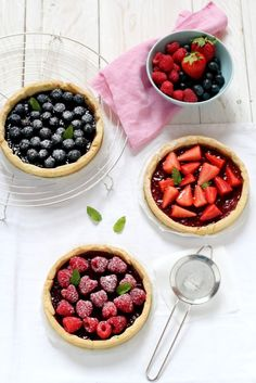 Great recipe ~ mini berries pies ~ Enjoy! Try  aroniaberries in your berry pie.  Repinned by Superberries.