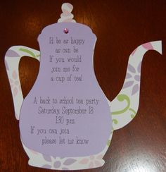High Tea Party Ideas   ... is more than just a place to rest your head.: A Tiny Little Tea Party