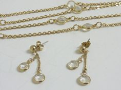 Vintage Goldtone Chain with Clear Rhinestones by labaublesandbags, $18.00