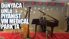 Dünyaca ünlü Fransız piyanist ve besteci Stephane Blet, VM Medical Park Samsun Hastanesi'nde 14 Şubat Sevgililer Günü dolayısı ile konser verdi