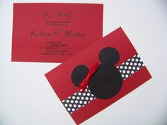Made it! Minnie Mouse Invites!