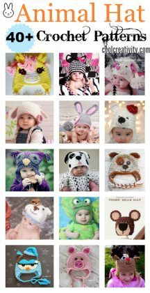 a5f848f6a0a 40+ Crochet Animal Hat with Patterns
