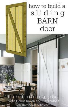 Sliding Barn Door Building Plan on @Remodelaholic
