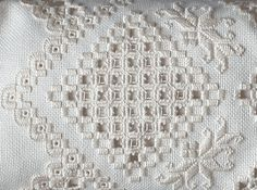 Hardanger, a whitework technique. Hardanger Embroidery, Embroidery Stitches, Embroidery Patterns, Hand Embroidery, Butterfly Embroidery, Modern Embroidery, Floral Embroidery, Machine Embroidery, Types Of Embroidery