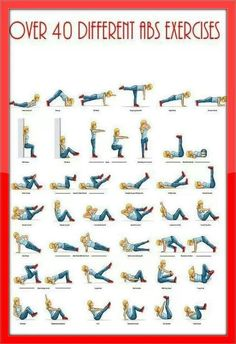 Ab workout :) over 40 exercises.