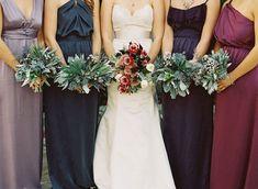 Bridal Style | Jewel Toned Bridesmaid Dresses via TahoeUnveiled.com