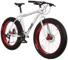 I want one! Cool Fat Tire Bikes : Framed Minnesota 2.0 Fat Bike White/Red : Sports & Outdoors