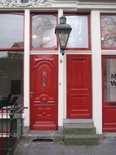 2 red doors