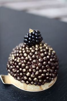 Blackberry and Orange-Chocolate Dome MINI Cakes