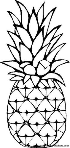 Fruits Coloring Page To Print Out And Color Picture Pineapples
