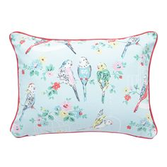 Big Budgies Boudoir Cushion with Piping | Chambre fille | CathKidston