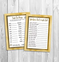 Anniversary Games, Anniversary Party Games, Gold, Who Knows Anniversary Party Games, 50th Wedding Anniversary, Anniversary Gifts For Him, Cute Games, Funny Games, Match Font, Best Part Of Me, Invitations, Couple