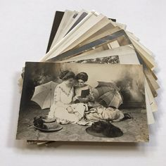PRETTY LADIES, FANCY HATS, Lot of 15 Real Photo Postcards